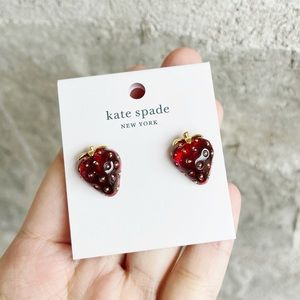 Kate Spade tutti fruity strawberry studs